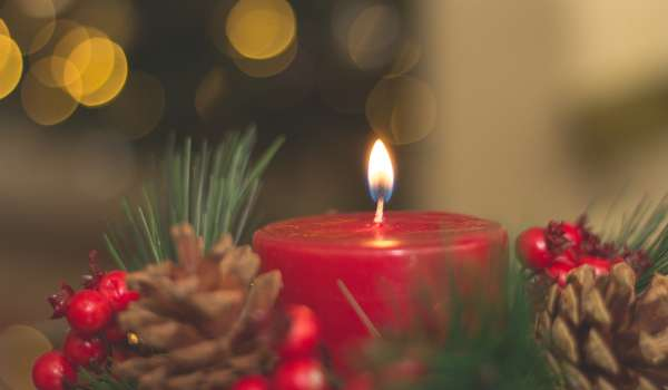Christmas Table Wreath with Candle Decoration Workshop