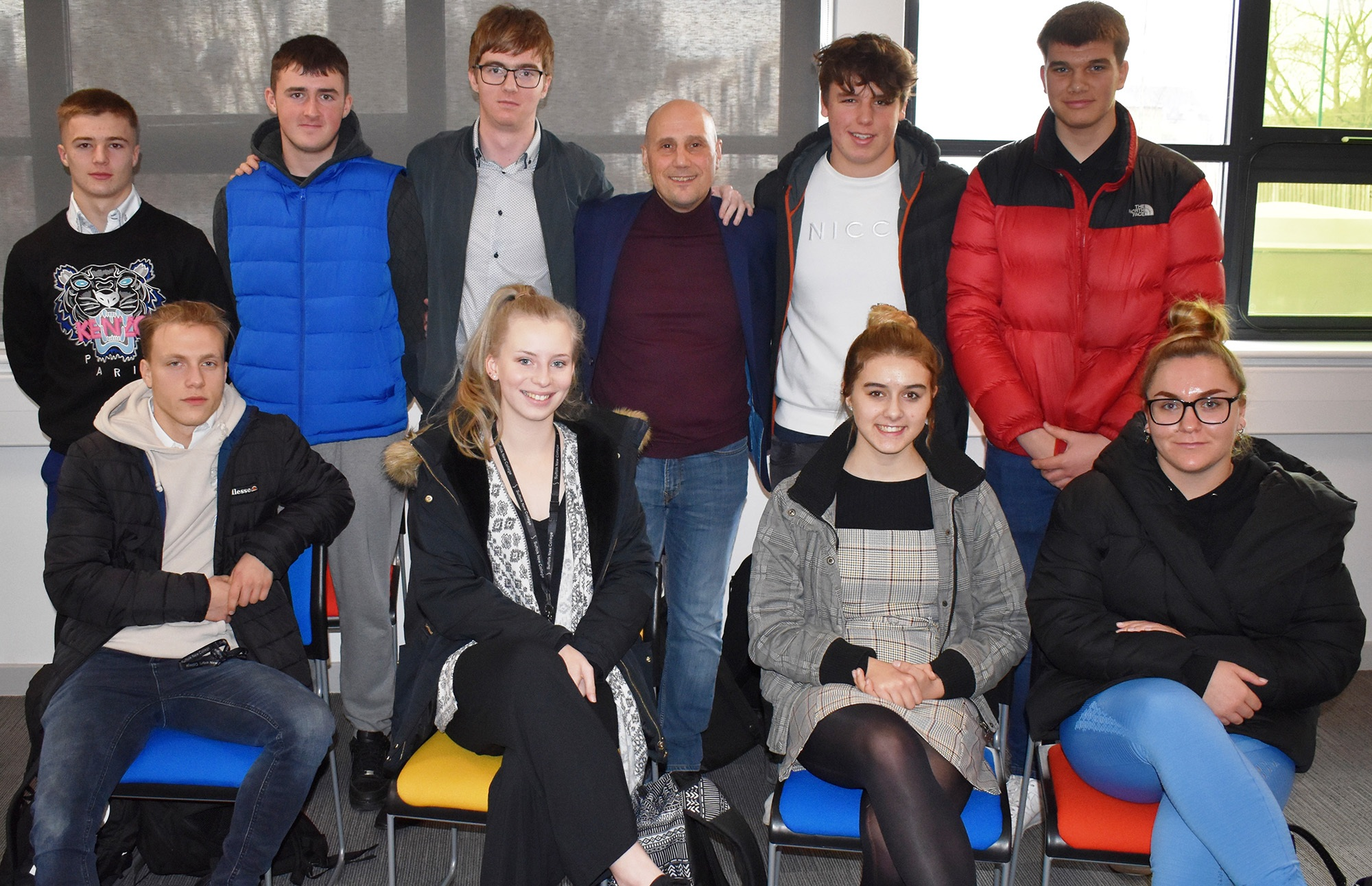 Suffolk New College students hoping to be part of the SportsSkills4Business project. Photo: JOHN NICE
