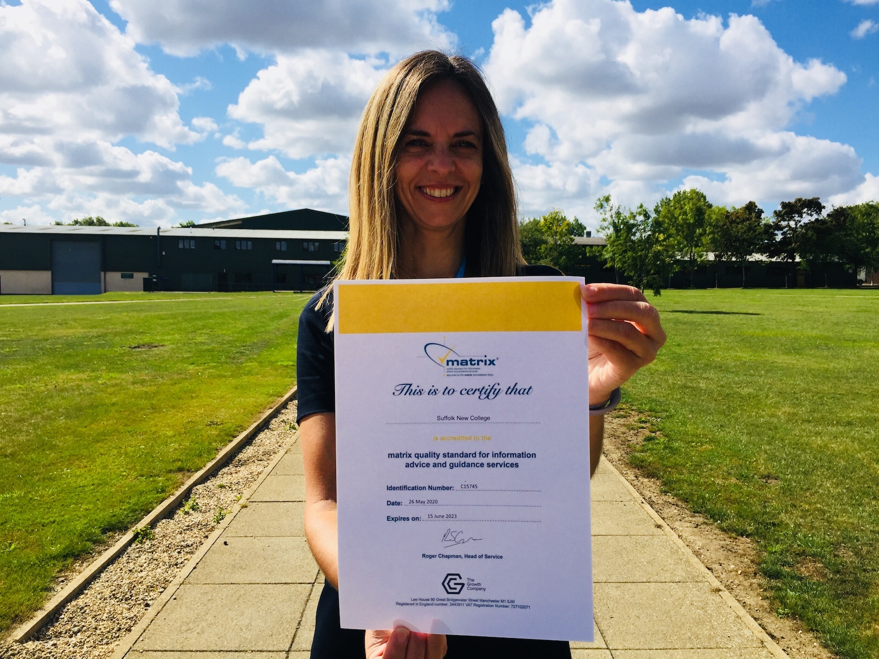 National assessor gives college top marks