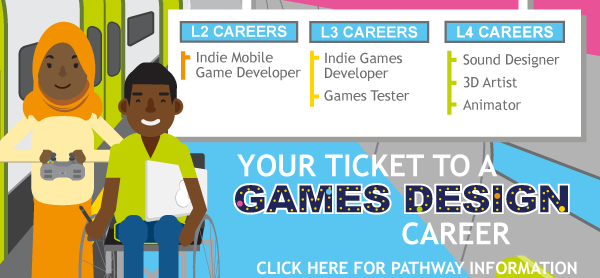 Games Design Pathway thumbnail - click for further details
